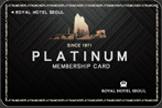 PLATINUM MEMBERSHIP 카드이미지
